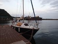 知人のヨットに乗り千葉県の蘇我から出航する